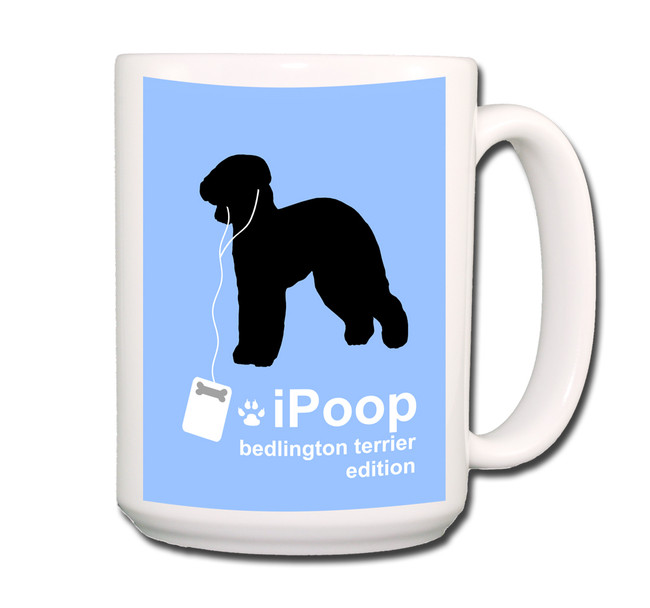 Bedlington Terrier iPoop Coffee Tea Mug 15oz