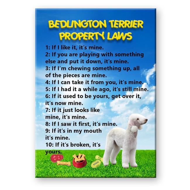 Bedlington Terrier Property Laws Fridge Magnet