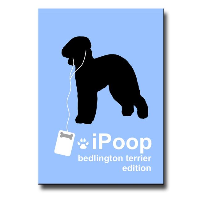 Bedlington Terrier iPoop Fridge Magnet