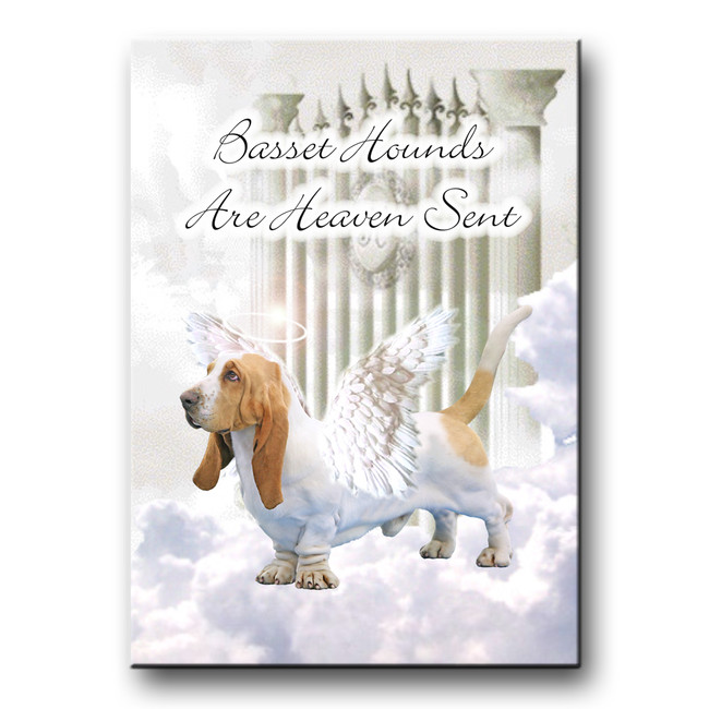 Basset Hound Heaven Sent Fridge Magnet No 1