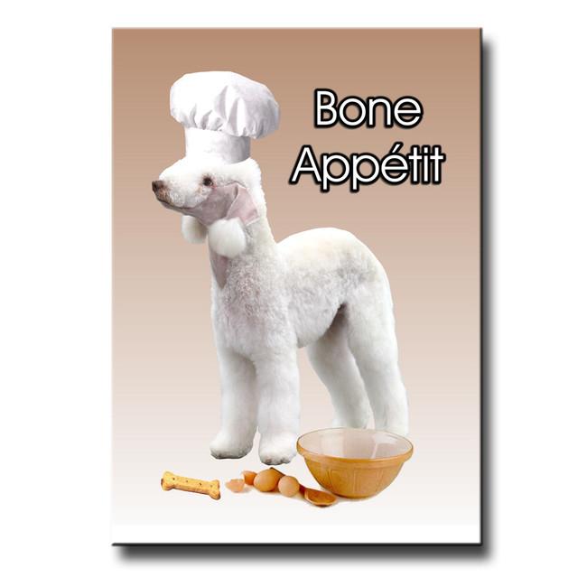 Bedlington Terrier Bone Appetit Chef Fridge Magnet