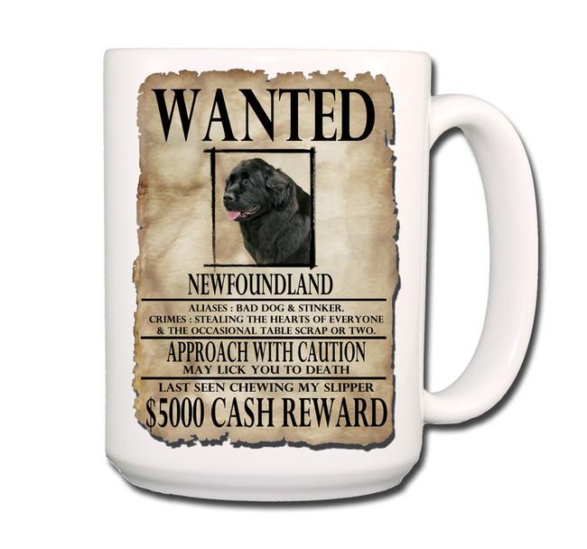 Newfoundland Wanted Poster Coffee Tea Mug 15oz No 2