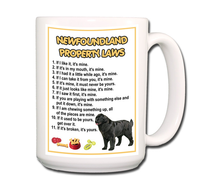 Newfoundland Property Laws Coffee Tea Mug 15oz No 2