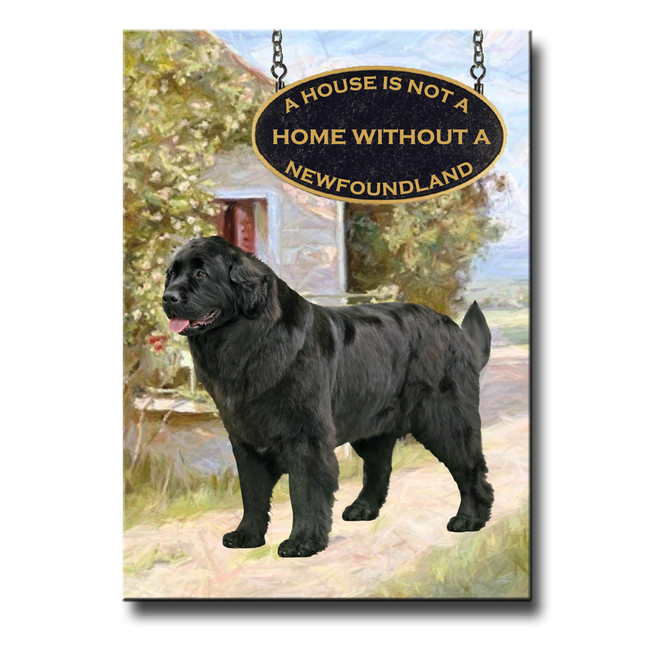 Newfoundland a House is Not a Home Fridge Magnet No 2