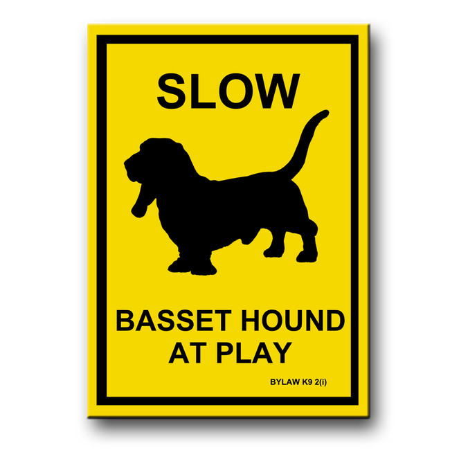 Basset Hound Slow at Play Fridge Magnet