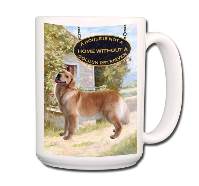 Golden Retriever a House is Not a Home Coffee Tea Mug 15oz No 1