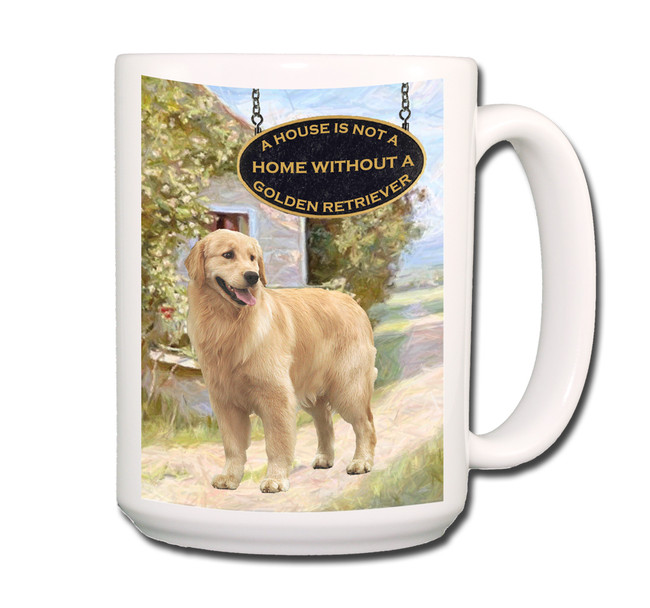 Golden Retriever a House is Not a Home Coffee Tea Mug 15oz No 2