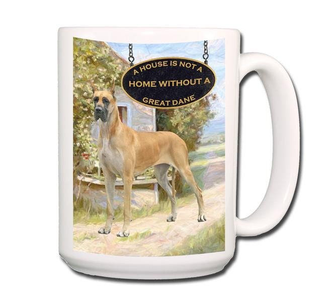 Great Dane a House is Not a Home Coffee Tea Mug 15oz No 3