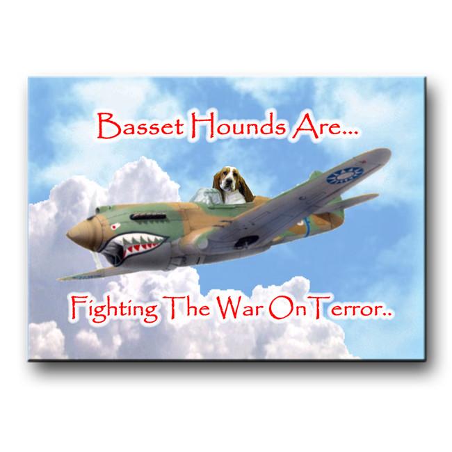 Basset Hound War on Terror Fridge Magnet No 1