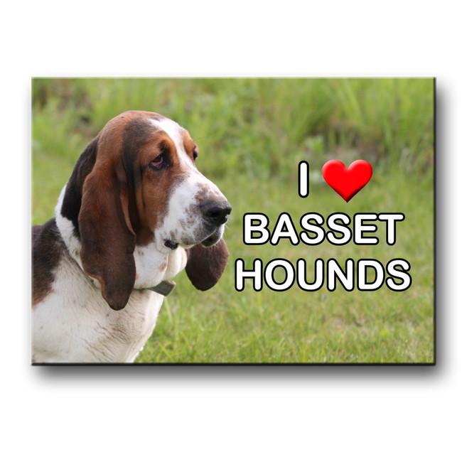 Basset Hound I Love My Fridge Magnet No 1