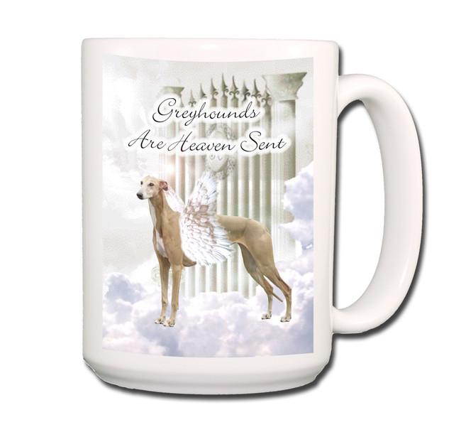 Greyhound Heaven Sent Coffee Tea Mug 15oz No 2