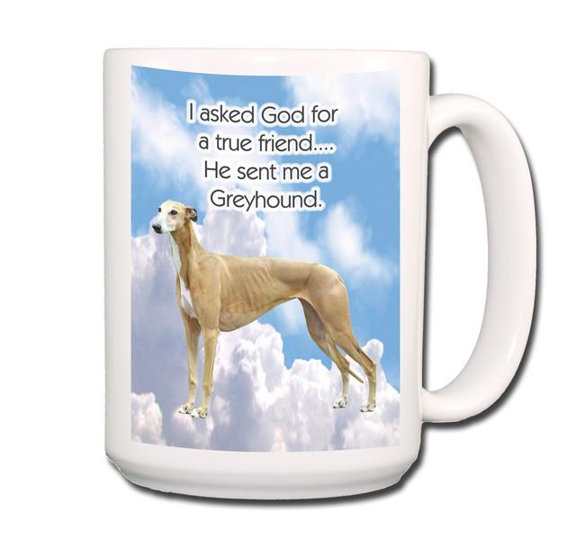 Greyhound True Friend Coffee Tea Mug 15oz No 2