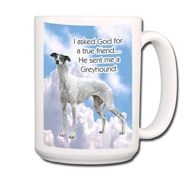 Greyhound True Friend Coffee Tea Mug 15oz No 3