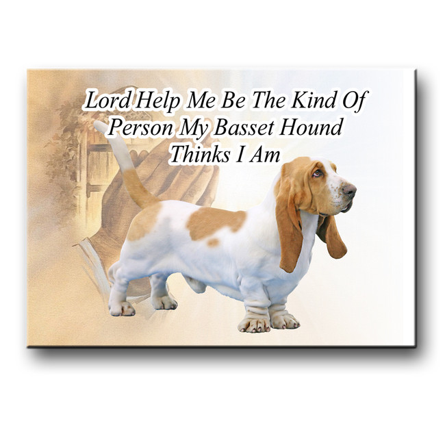 Basset Hound Lord Help Me Be Fridge Magnet No 1
