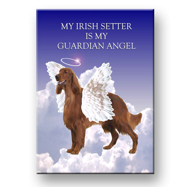 Irish Setter Guardian Angel Fridge Magnet