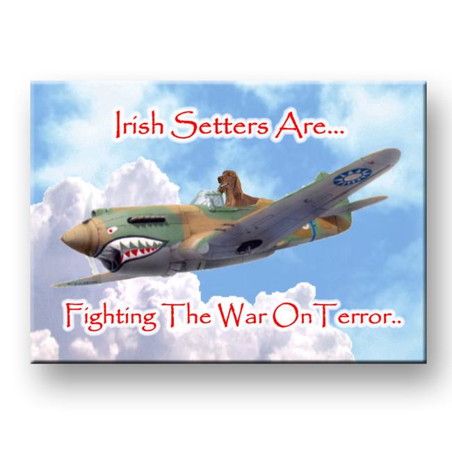 Irish Setter War on Terror Fridge Magnet