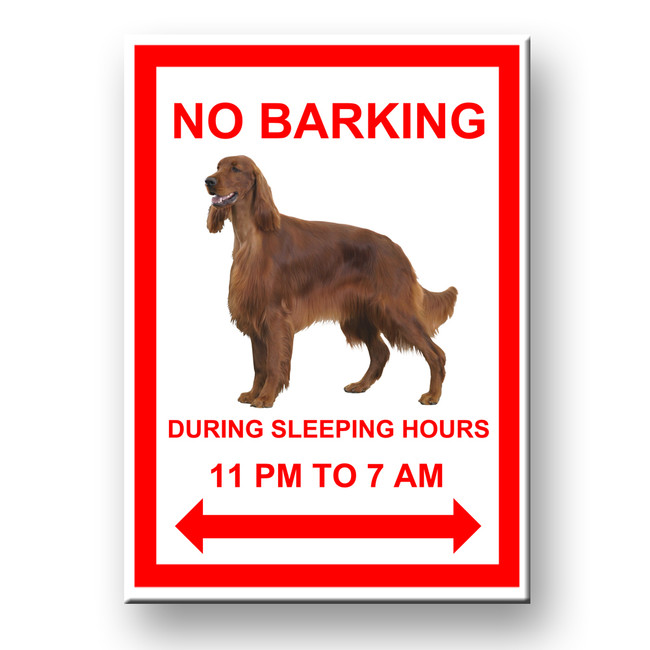 Irish Setter No Barking Fridge Magnet