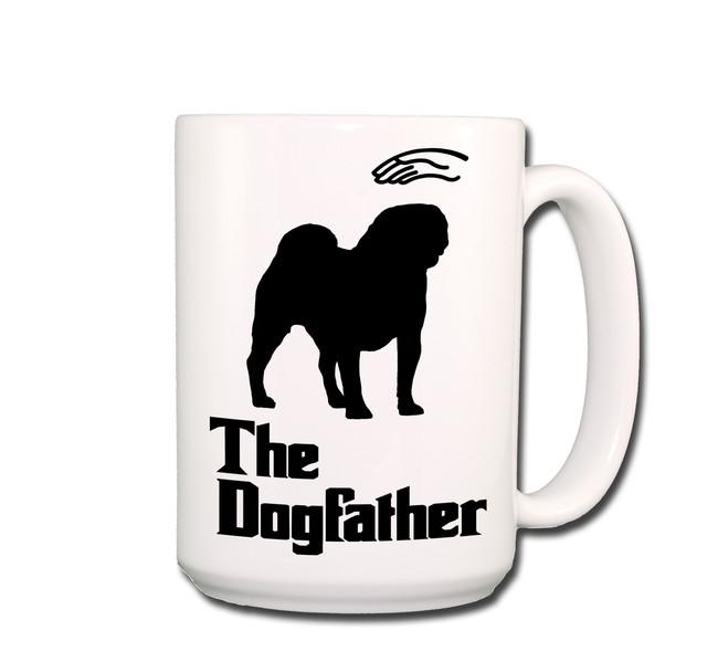 Pug The Dogfather Coffee Tea Mug 15oz