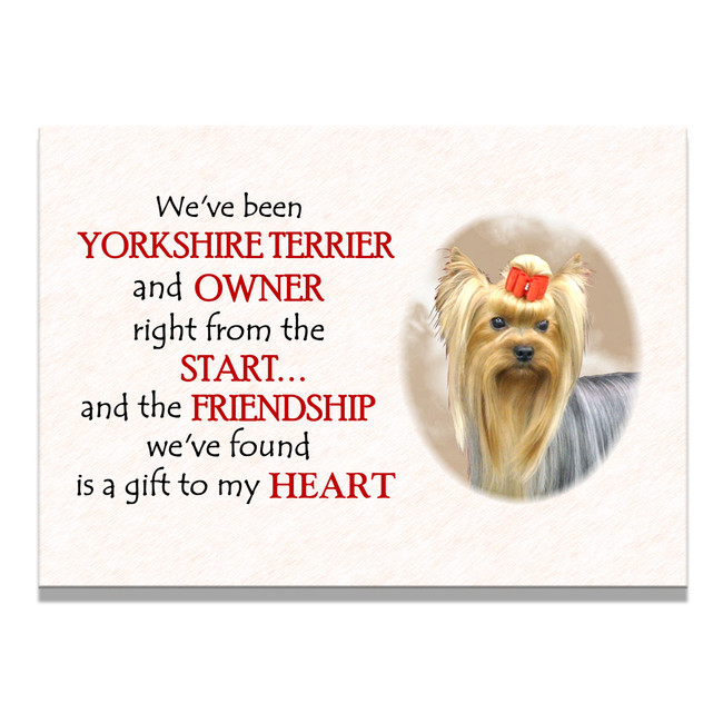 Yorkshire Terrier Friendship Fridge Magnet