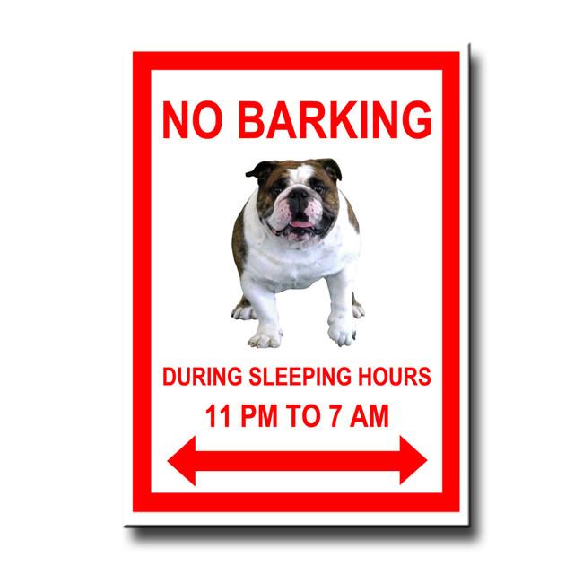 English Bulldog No Barking Fridge Magnet No 1