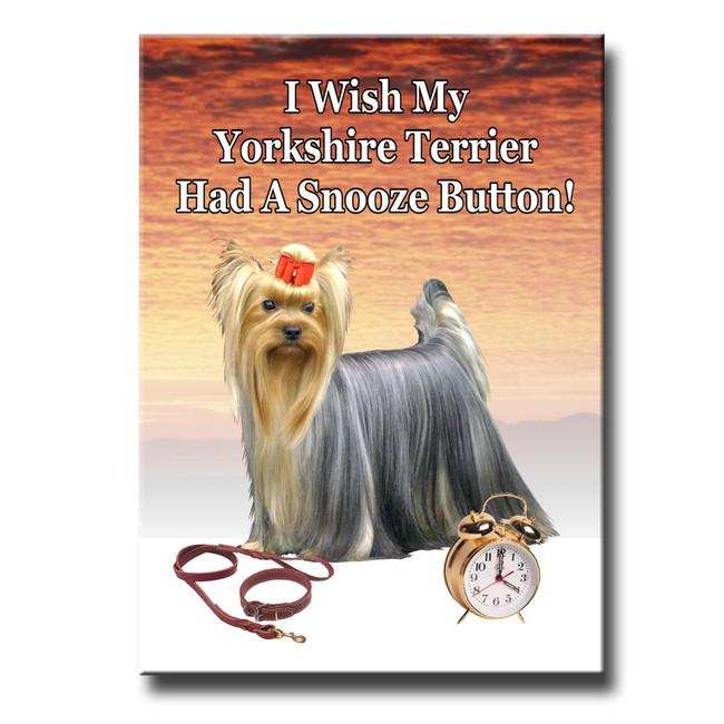 Yorkshire Terrier Snooze Alarm Fridge Magnet