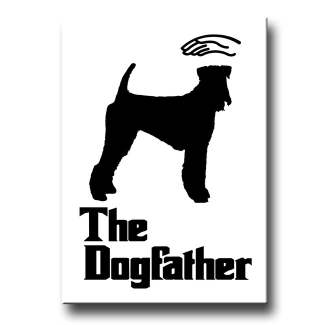 Airedale Terrier The Dogfather Fridge Magnet