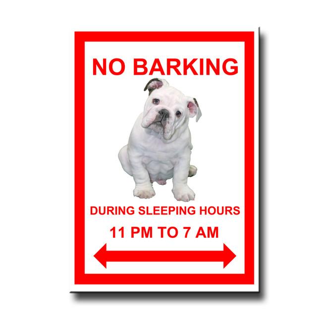 English Bulldog No Barking Fridge Magnet No 3