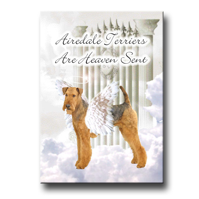 Airedale Terrier Heaven Sent Fridge Magnet