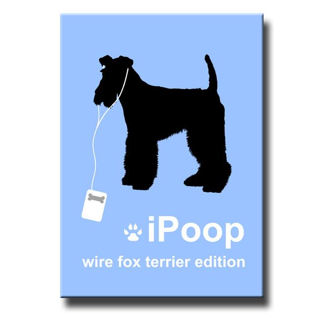 Wire Fox Terrier iPoop Fridge Magnet