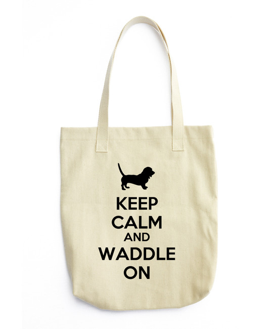 A cute, all-purpose natural cotton tote bag featuring this wonderful breed. This Totes is Beige in color with a BLACK font color. Made in The USA