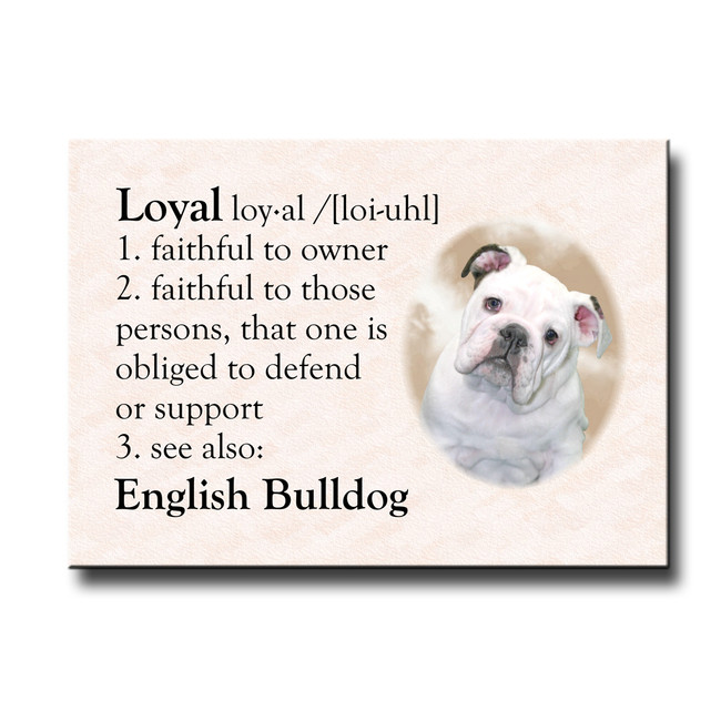 English Bulldog Dictionary Loyal Fridge Magnet No 3