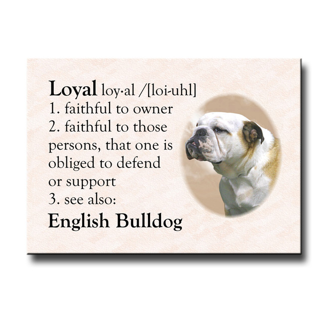 English Bulldog Dictionary Loyal Fridge Magnet No 2