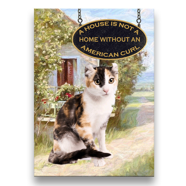 American Curl Cat a House is Not a Home Fridge Magnet No 1