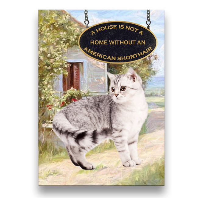 American Shorthair Cat a House is Not a Home Fridge Magnet No 1