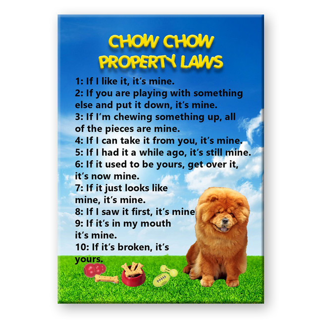 Chow Chow Property Laws Fridge Magnet