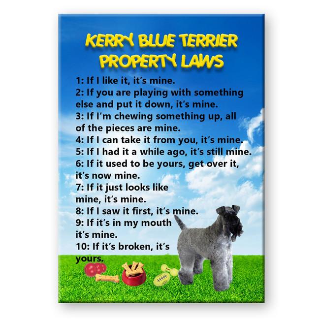 Kerry Blue Terrier Property Laws Fridge Magnet