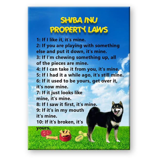 Shiba Inu Property Laws Fridge Magnet No 2