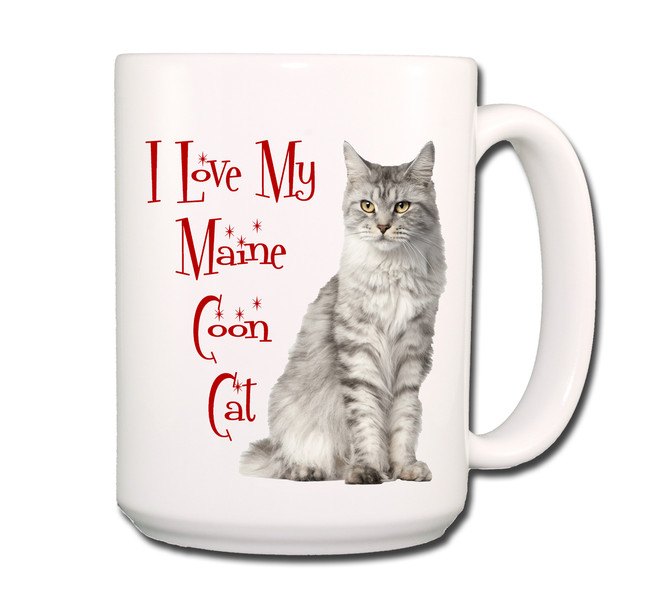 Maine Coon Cat I Love My Cat Coffee Tea Mug 15 oz No 1