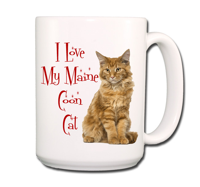 Maine Coon Cat I Love My Cat Coffee Tea Mug 15 oz No 2