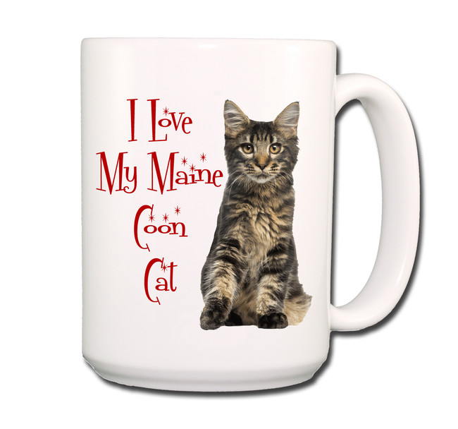 Maine Coon Cat I Love My Cat Coffee Tea Mug 15 oz No 3