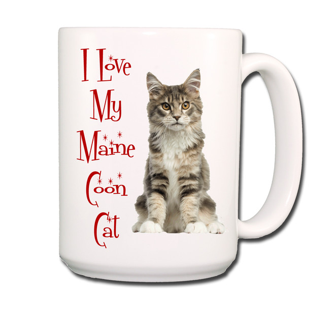 Maine Coon Cat I Love My Cat Coffee Tea Mug 15 oz No 4