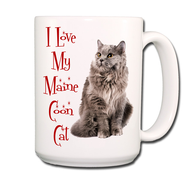 Maine Coon Cat I Love My Cat Coffee Tea Mug 15 oz No 5
