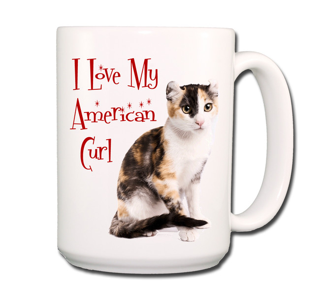 American Curl I Love My Cat Coffee Tea Mug 15 oz No 5