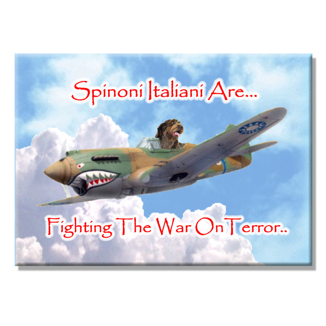 Italian Spinone War on Terror Fridge Magnet No 2