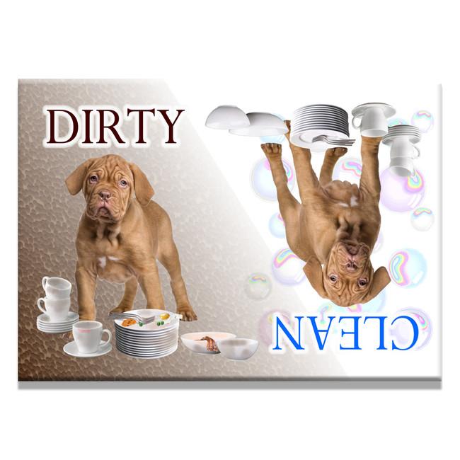 Dogue de Bordeaux Clean Dirty Dishwasher Magnet