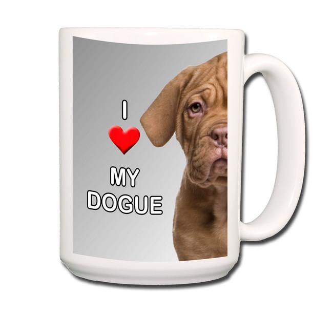 Dogue de Bordeaux I Love My Coffee Tea Mug 15 oz