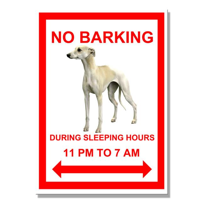 Whippet No Barking Fridge Magnet