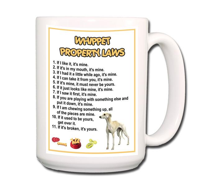 Whippet Property Laws Coffee Tea Mug 15 oz