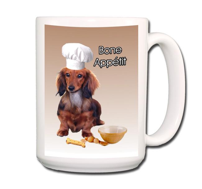 Dachshund Bone Appetit Chef Coffee Tea Mug 15oz No 4