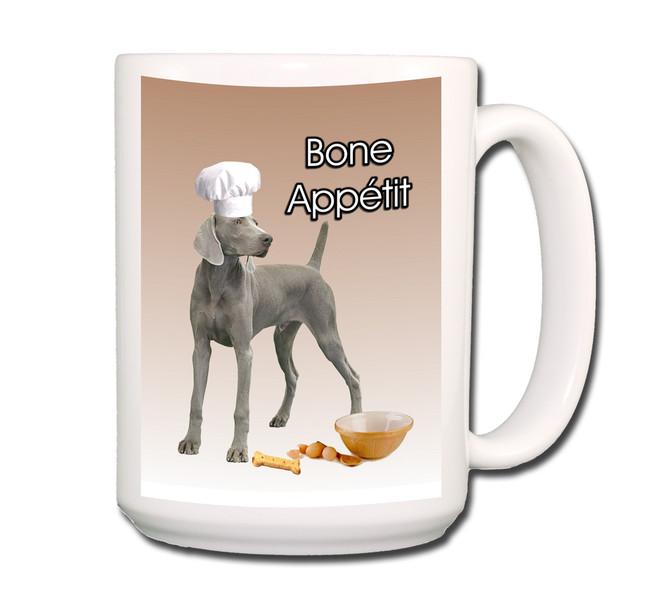 Weimaraner Bone Appetit Chef Coffee Tea Mug 15 oz